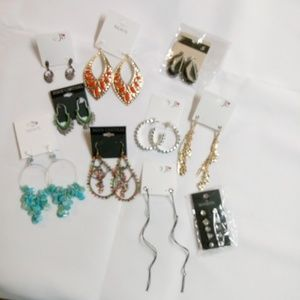 Fashion Earrings Bundle 10 Pair Drop/Dangle BN6